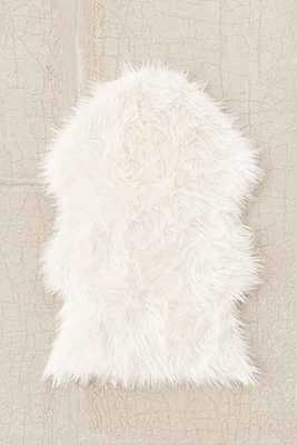 Faux Sheepskin Shaped Rug - Ivory - 2' x 3' - Urban Outfitters