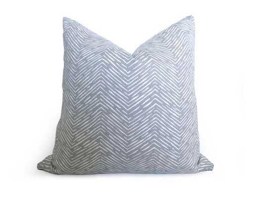 """Fishbone Chevron Pillow Cover - 18"""" x 18"""" - Willa Skye"""