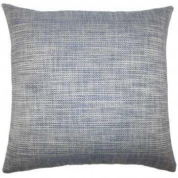 """Daker Weave Pillow Indigo - 18"""" x 18"""" - Down Insert - Linen & Seam"""
