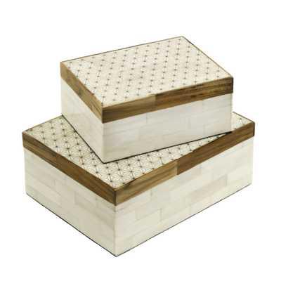 Naturals Storage Box Celestial Cream Small 4.5x6x2.5 - Alma Decor