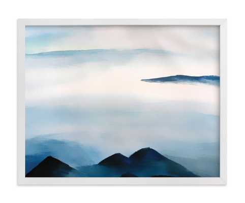 """snowscape - 14"""" x 11"""" - White Frame - Minted"""