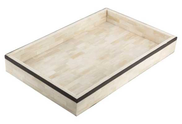 Single-Stripe Tray, Black - One Kings Lane
