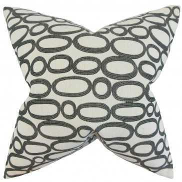 Razili Geometric Pillow - 18x18 - Poly insert - Linen & Seam