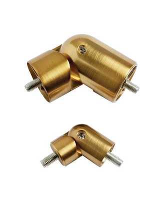 "Drapery Rod Corner Connector - Brass - .75"" diam. - Ballard Designs"
