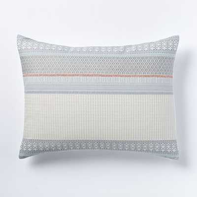 Organic Nordic Stripe Jacquard Standard Sham - West Elm
