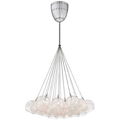 "Possini Euro Wired 23 1/2"" Wide Chrome Multi Light Pendant - Lamps Plus"