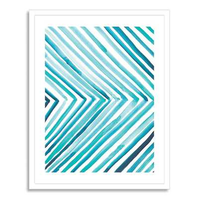 "Aquatic Line - 22"" x 28"" - White Frame - West Elm"