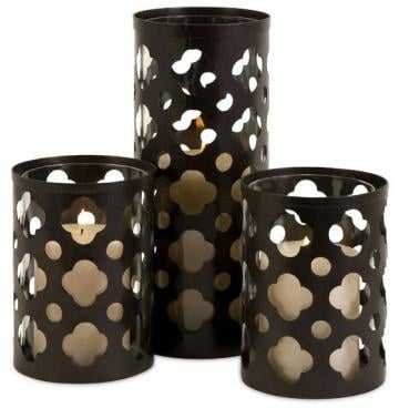 Norte Cutwork Candle Holders - Set of 3 - Home Decorators