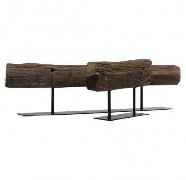 """Cladded Bronzed Table Sculpture - 22"""" - GoldLeaf Design Group"""