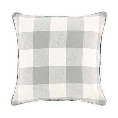 "Buffalo Check Pillow - Grey - 20"" - insert - Ballard Designs"