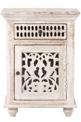 MAHARAJA NIGHTSTAND - Sandblast White - Home Decorators