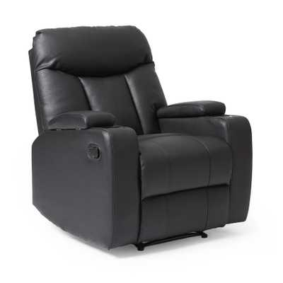 ProLounger Tuff Stuff Black Synthetic Leather Wall Hugger Recliner - Overstock