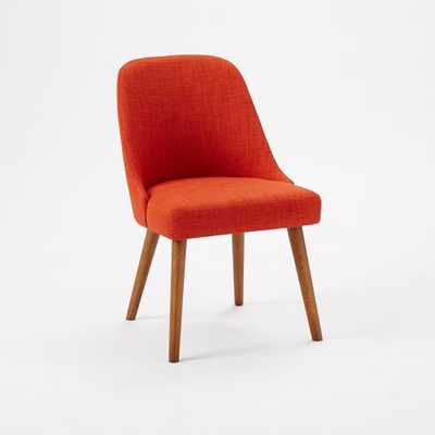 Mid-Century Dining Chairs - Set of 2 - Cayenne, Heathered Weave - West Elm