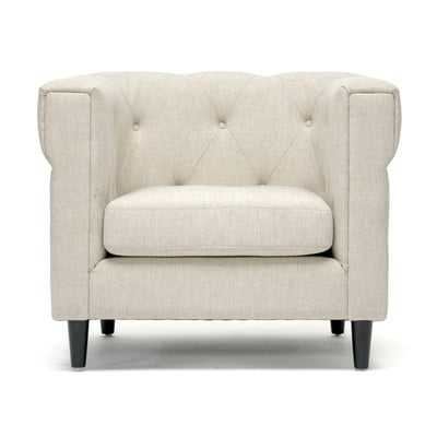 Cortland Club Chair in Beige - Wayfair