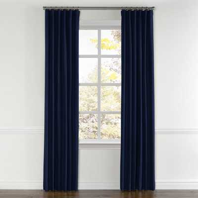 "Navy blue velvet curtain - 96"" x 50"" -  Standard Cotton Lining - Loom Decor"