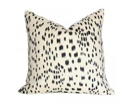 "Les Touches Black Pillow Cover/Pillow - 20"" x 20"", No Insert - Arianna Belle"