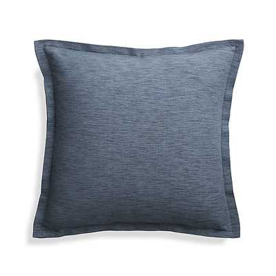 """Linden Indigo Blue 18"""" Pillow with Down-Alternative Insert - Crate and Barrel"""