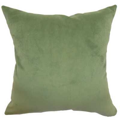 "Generys Solid Pillow Forest - 18"" x 18"", polyester insert - Linen & Seam"