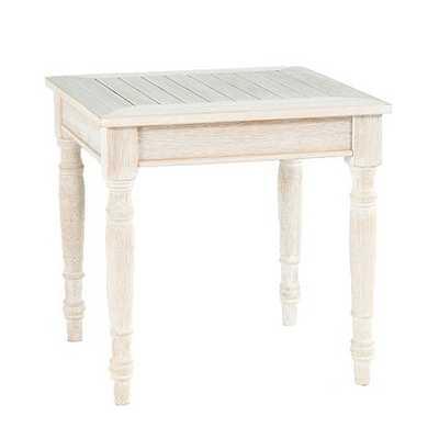 Ceylon Whitewash Side Table - Ballard Designs
