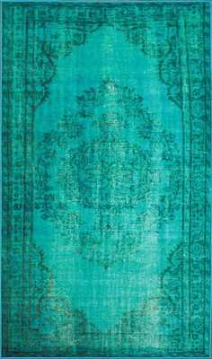 """Machine Made Vintage Inspired Overdyed Rug - 8' 2"""" x 9' 11"""" - Loom 23"""