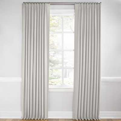 "White & Natural Mini Print Pleated Curtain - No Lining, 108"" - Loom Decor"
