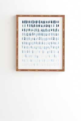 "PROOF OF LIFE Wall Art - 14"" x 16.5""- Natural Bamboo frame - Wander Print Co."