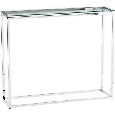 Smart glass top console table - CB2