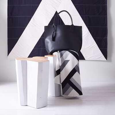 Holler Design Beam Stool, White - West Elm