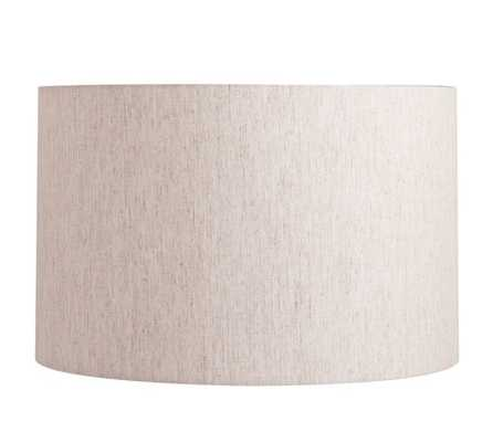 STRAIGHT-SIDED LINEN DRUM LAMP SHADE - Large, Flax - Pottery Barn