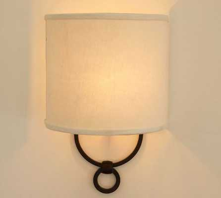 Francis Sconce (set of 2) - Rustic Black - Pottery Barn