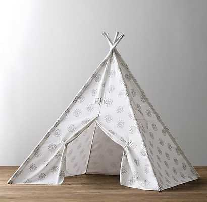 PRINTED CANVAS TEEPEE TENT-Dandelion-Grey- Small - RH Baby & Child