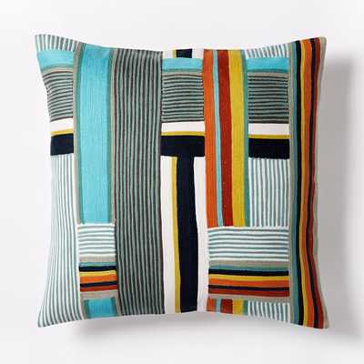 Wallace Sewell Kente Crewel Pillow Cover - Insert Not Included - West Elm