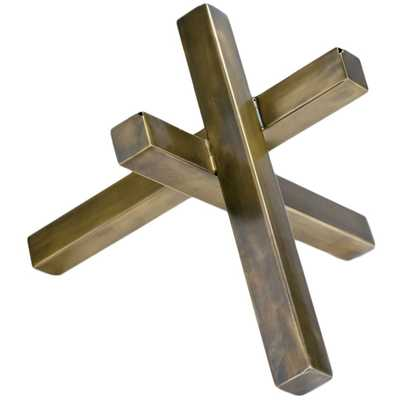 Intersecting Sculpture-Brass - High Fashion Home