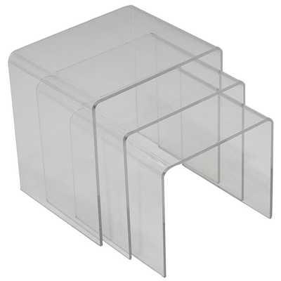 Casper Nesting Table in Clear - Modway Furniture