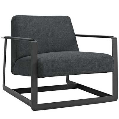 Seg Fabric Accent Chair in Gray - Modway Furniture