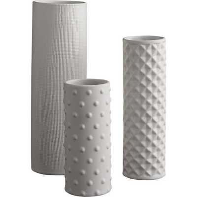 3-piece hat trick vase set - CB2