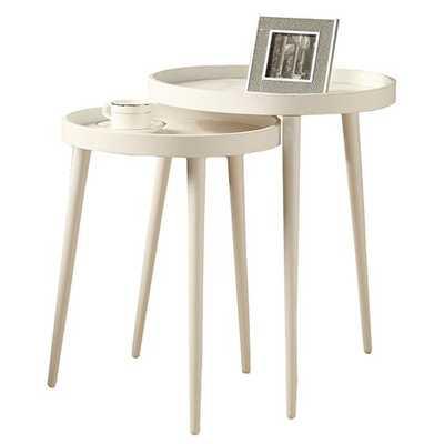 BENSON NESTING TABLES - SET OF 2 -WHITE - Home Decorators