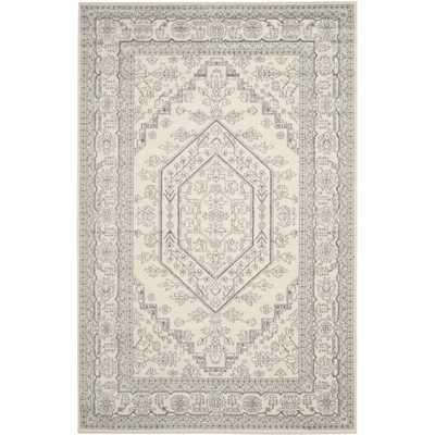 Adirondack Ivory/ Silver Rug (8' x 10') - Overstock