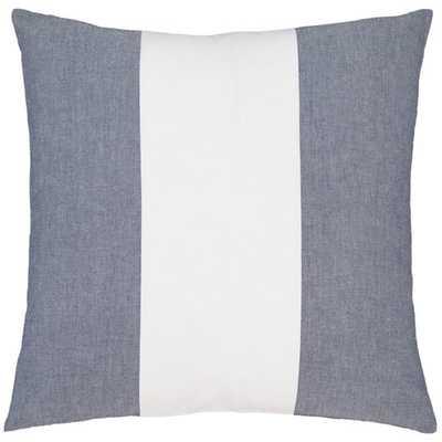 "Spinnaker Stripe Indigo Decorative Pillow - 20"" x 20"" - No insert - Pine Cone Hill"