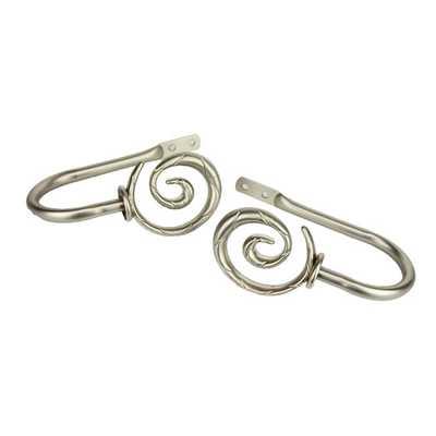 Modern Spiral Curtain Holdback - Satin Nickel - AllModern