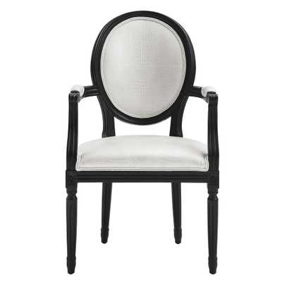 Phoenix White Croc Arm Chair - Maren Home