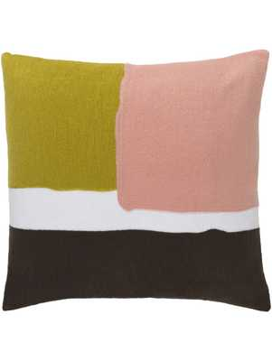 """LUDWIK PILLOW, CORAL, 20"""" x 20"""", Polyester Filled - Lulu and Georgia"""