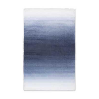 Horizon Wool Rug, Midnight, 5'x8' - West Elm