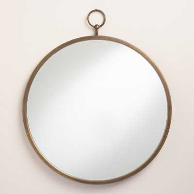 Brass Metal Loop Mirror - World Market/Cost Plus