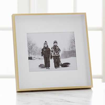 Brushed Brass 8x10 Frame - Crate and Barrel
