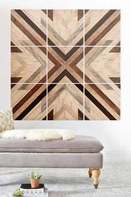 GEO WOOD 1 Wood Wall Mural-4'x4' - Wander Print Co.