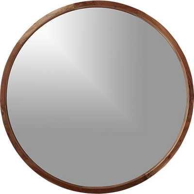 "Acacia wood 40"" mirror - CB2"