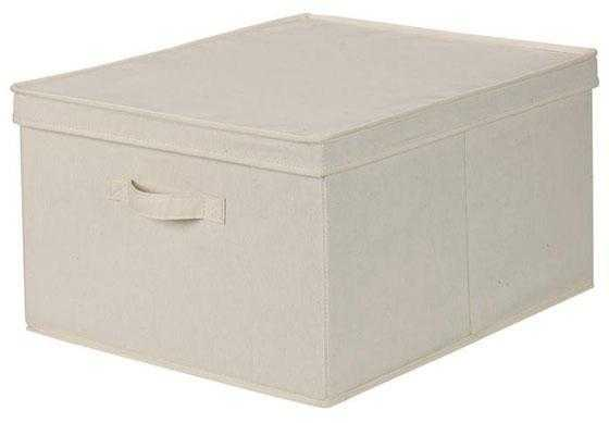 CANVAS STORAGE BOX WITH LID - LARGE - Home Decorators