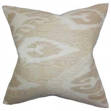 Fernande Ikat Pillow - 18x18 - Down Insert - Linen & Seam