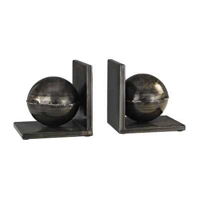 Fugue Bookends In Holmes Bronze - Set of 2 - Rosen Studio